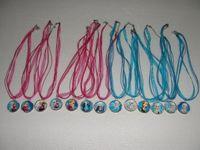 Fashion Frozen Necklaces Colorful Ribbon Necklace Cartoon Pe...