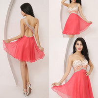 Real Image Homecoming Dresses 2014 Sexy Short AJ001 Chiffon ...