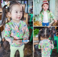 2016 Spring Autumn Girls Jacket Flower Children Clothing Lon...