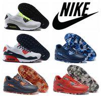 Nike air max 90 VT all black oreo genuine leather men runnin...