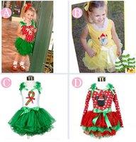 Girls Christmas Dress Short Sleeve Princess Dresses Cotton L...