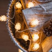 20LED светодиод Шишка энергии струны батареи пузырь шар лампы Рождество Свадьба Праздник Рождества Декоративные лампы