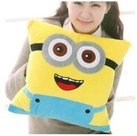 Free Shipping Cartoon Plush Pillow Minion Toys for Children ...