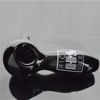 "Custom Logo Black Spoon Pipes 4"" inch Legth Oil Burner ..."
