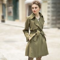winter&autumn new Wool & Blends Trench Coats Street Style Ca...