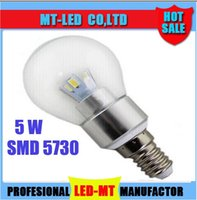 X10pcs 6 Led 5730 globe lamp E14 E12 base 5W 450LM warm whit...