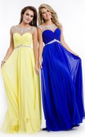 Ready To Ship Prom Dresses 2015 Royal Blue Yellow Red Sheer ...