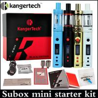 Высокое качество Subox Мини стартовый комплект клон Kangertech SUBOX Mini полный комплект с субтанка мини-танк Мощный VW 5W-50W Батарея