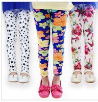 kids girls leggings pants new arrive printed Flower girls le...