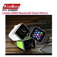 2015 Nouveau Smart Watch Téléphone Lemfo LF07 DM09 Smartwatch téléphones mobiles soutien SIM GSM Bluetooth 4.0 montre-bracelet Sync IOS Android Smartphone bes