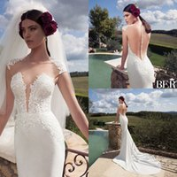 2016 New Design Berta Ivory Lace Mermaid Wedding Dresses Gor...