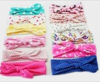Xmas Bohemian cotton girl baby bow Headband Wave point Turba...