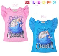 Cinderella Children Clothing Short Sleeve Tshirts Kids Cloth...