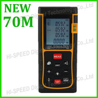 Free Shipping 70m Laser distance meter bubble level Tape too...