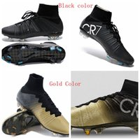 Men' s Mercurial Superfly FG CR7 Black Shoes Soccer Boot...
