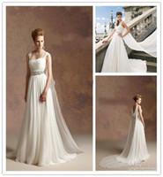 Greek goddess style wedding dress