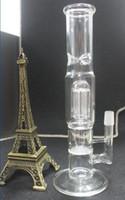 refroidir Honeycomb Disk Bong avec bras Arbre Perc tuyau d'eau en verre bong deux fonctions 9 Arm percolateur et le miel peigne 19mm verre