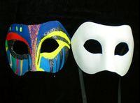 Top sales Drawing Board Solid White DIY Zorro Paper Mask Bla...