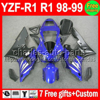 7gifts+ Body For YAMAHA YZFR1 98- 99 YZF R1 YZF1000 Factory bl...