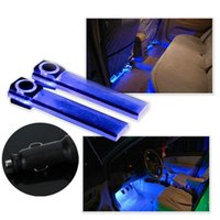 super bright blue colorful 4 LED Car Interior Decoration Flo...