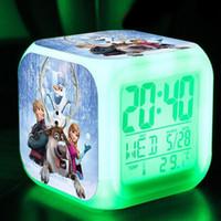New 3D cartoon Frozen Digital desk table alarm clock Elsa An...