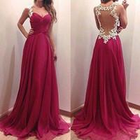 Wine Red Patchwork Grenadine Ruffle Lace Condole Belt Dress ...