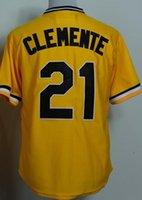 2015 #21 Roberto Clemente Mitchell and Ness 1971 Yellow Thro...