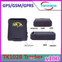 100pcs GPRS GSM GPS voiture personnel Tracker, véhicule mini GPS Tracker TK102B + Hard wired voiture chargeur, livraison gratuite ZY-DH-05