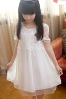 Dresses Kids 2015 Summer Kid' s Clothes Korean Lace Embr...