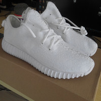 All White 350 Boost Kanye Shoes Classic Moon Rock Men' s...