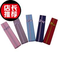 48pcs 4 * 20cm mixte boîte couleurs collier boîtes carton Collier boîte cadeau boîte à bijoux bague de boîte couple de boîte de 4x20 boîte de bijoux pendentif