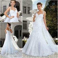 2015 Wedding Dresses Mermaid Wedding Dress with Wrap Sweethe...
