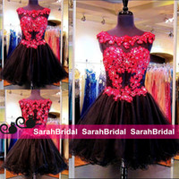 Sexy Black and Red Rhinestone Homecoming Dresses for 2016 Fo...