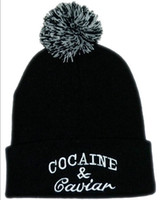 Knitted Beanies with Letters for Unisex 100% Acrylic Hats Co...