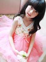 Girls Clothes Girl Dress Kids Floral Printed Billowing Tulle...