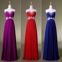 Hot Prom Dresses Red Royal Blue Purple 100% Real Image Cheap...