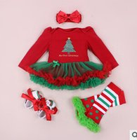4- piece toddlers baby girls christmas outfit long- sleeved sk...