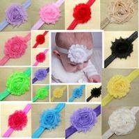 top Shabby Flower Headband Children Chiffon Headband Chic Ba...