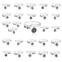 26 lettres Alex et Ani Charm réglable bracelets des états câblage d'argent or poignets des bracelets pendentif extensible de bande cadeau de Noël