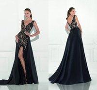 Mermaid Tarik Ediz Dresses Evening Wear Lace Plunging Neckli...