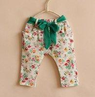 baby girl kids little flower harem pants leggings Jeans flor...