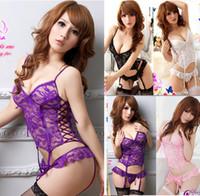 Hot Sexy Women Black White Purple Pink Floral Lace Underwear...