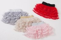 baby girl kids lace skirt pettiskirt tutu skirt lace layers ...