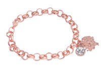 New arrive 1PCS Fashion bracelet Rose Gold Color Rhinestone ...