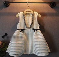 2015 Spring Summer Fashion Girls Dresses Bowknot Lace Hollow...