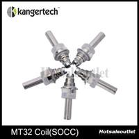 Kanger convecteur MT32 Coil socc bobines avec Janpanese Organic Cotton Wick 100% authentique arrivée de nouveaux