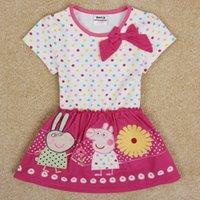 artoon children clothing baby peppa pig dress 2014 summer dr...