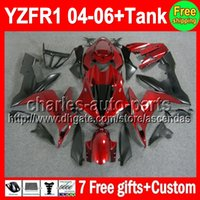 7gifts For YAMAHA YZF- R1 04- 06 YZF R1 R 1 Dark red YZF1000 C...