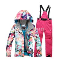 Cheap Free Shipping Winter Warm Women Ski Waterproof Suit Snowboard Jacket And Pants For Women