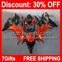7gifts Orange Black Full Fairing Kit For KAWASAKI NINJA ZX- 1...